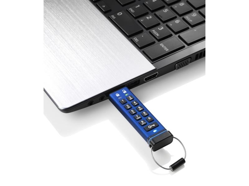iStorage Datashur Pro 16GB защищенный флеш-накопитель с аппаратным шифрованием данных, пин-кодом