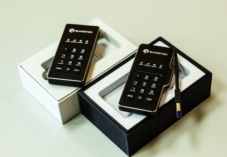 Мини-диск GuardDo SSD 500 ГБ защищенный флеш-накопитель с аппаратным шифрованием данных, пин-кодом