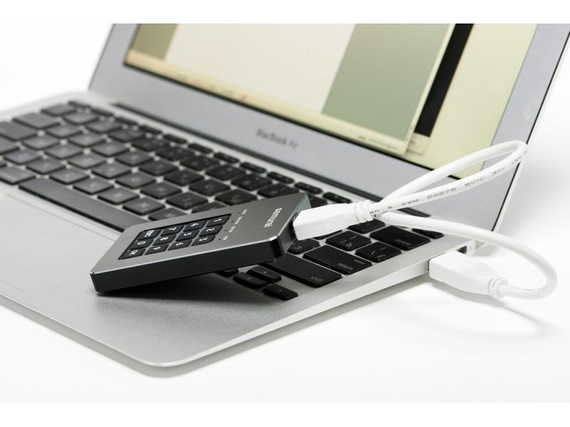 GuardDo HDD 1 Тб (2,5) защищенный флеш-накопитель с аппаратным шифрованием данных, пин-кодом