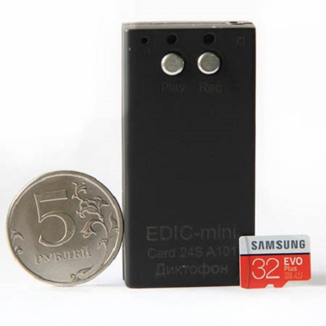 Диктофон EDIC-Mini Card24S A101