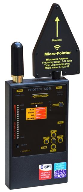 Детектор жучков Protect 1206i для обнаружения жучков прослушки