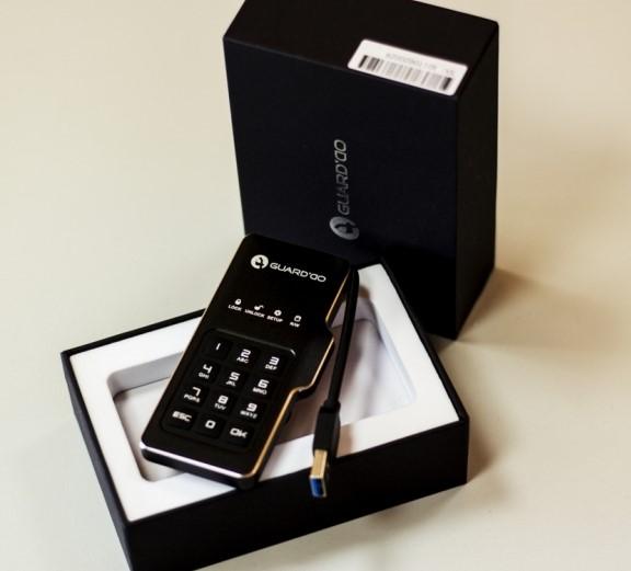 Мини-диск GuardDo SSD 2 ТБ защищенный флеш-накопитель с аппаратным шифрованием данных, пин-кодом
