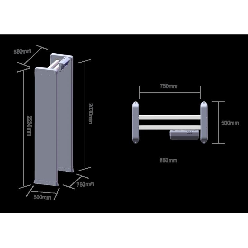 Арочный металлодетектор БлокПост PC Z 400 MK 4/2