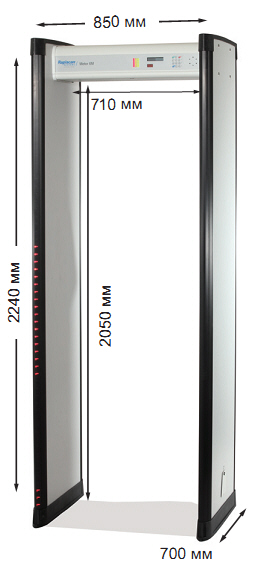 Арочный металлодетектор METOR 6S