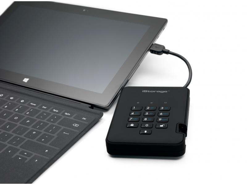 DiskAshur2 SSD 1000Gb защищенный флеш-накопитель с аппаратным шифрованием данных, пин-кодом