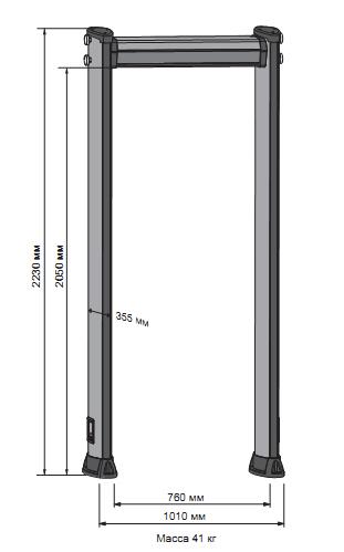 Арочный металлодетектор METOR 6WP