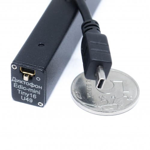 Миниатюрный Диктофон EDIC-mini Tiny16 U49