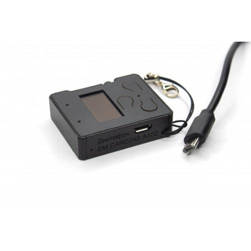 Миниатюрный стерео диктофон EDIC-Mini Card24S модель А102