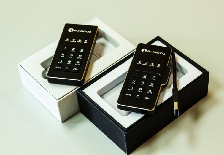 Мини-диск GuardDo SSD 128 Гб защищенный флеш-накопитель с аппаратным шифрованием данных, пин-кодом